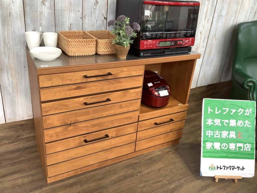 【東馬】インダストリアルデザインのキッチンカウンター(LINA120)が入荷しました!!【トレファクマーケット千葉おゆみ野店】