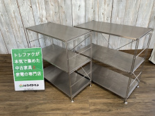無印良品のステンレスユニットシェルフ入荷! 無印の中古家具をお買い得価格で取り揃えております♪