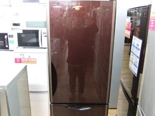 冷蔵庫 HITACHI ヒタチの3ドア冷蔵庫