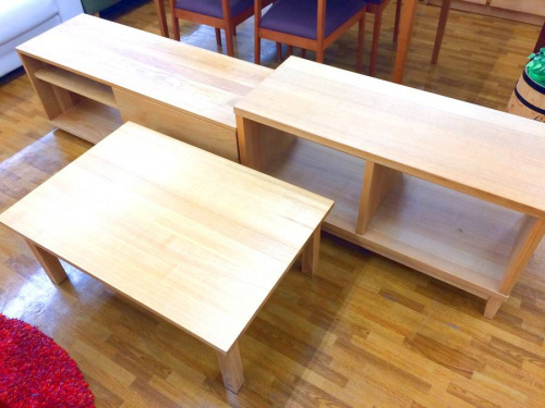 家具・インテリアのオープンシェルフ ローテーブル テレビボード