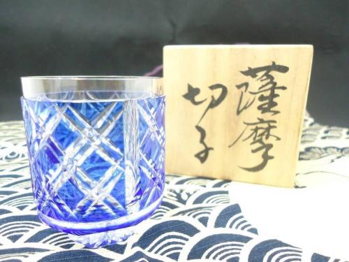 薩摩切子(さつまきりこ)の冷酒グラス ぐい呑み