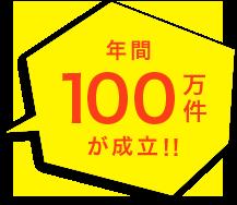 年間100万件が成立!!