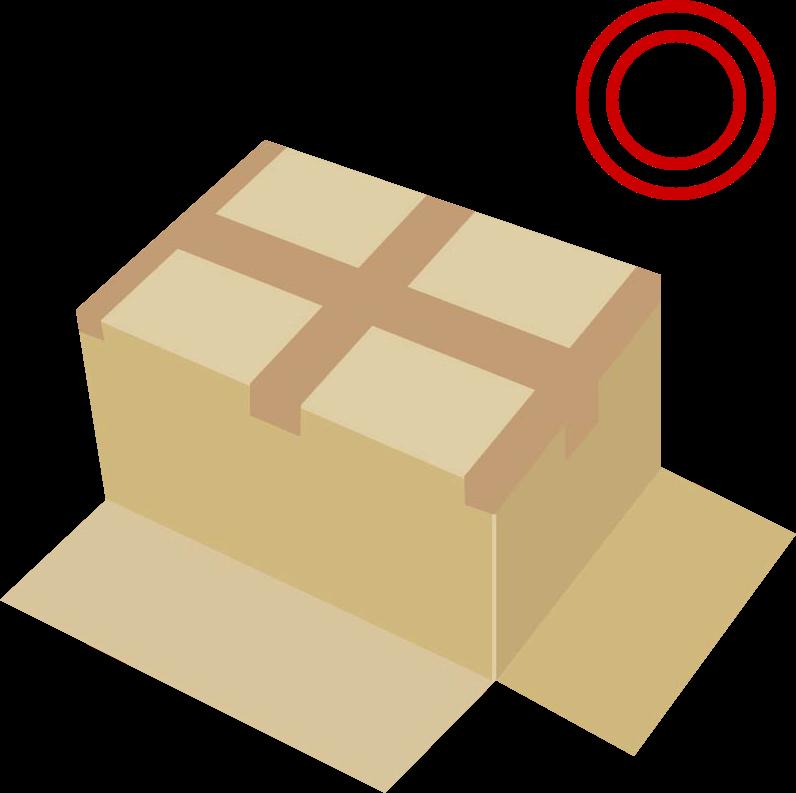 底抜け防止のテープの貼り方01